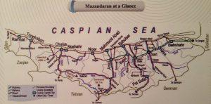 карта мазандарана