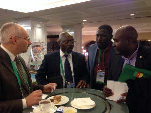 Общение с коллегами из Камеруна